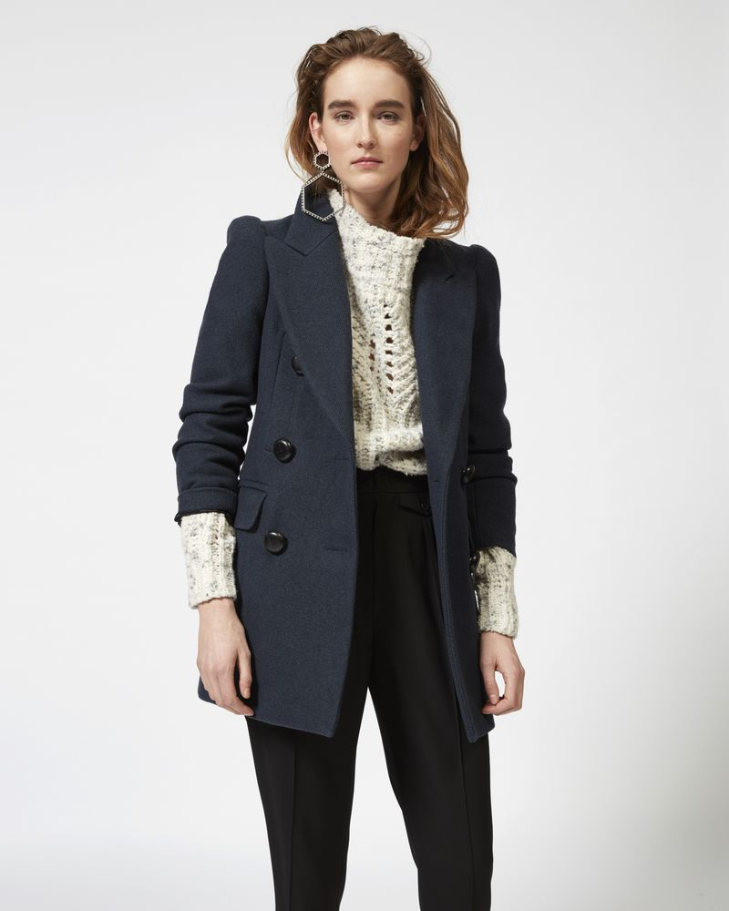 KLEA pea coat in cotton and wool ISABEL MARANT