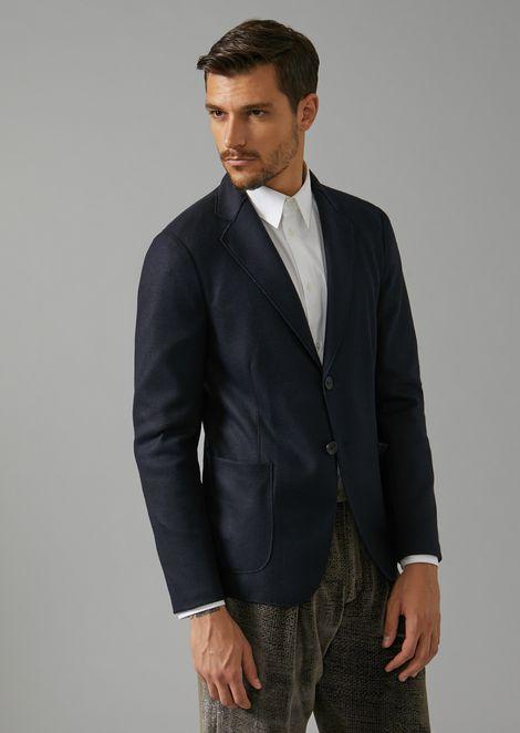 Single-breasted jacket in virgin wool