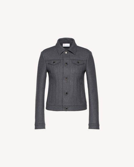 Wool cloth denim-style jacket