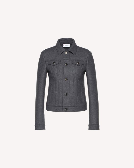 REDValentino Wool cloth denim-style jacket