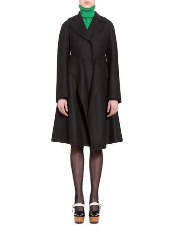 Marni Coat in felted double-knit wool Woman