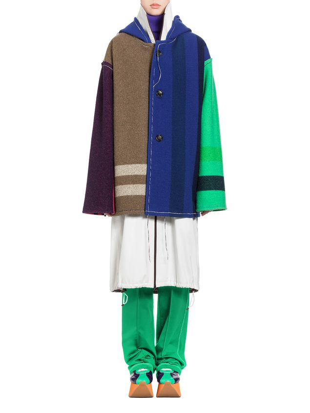 Marni Coat in yarn-dyed wool Woman - 1