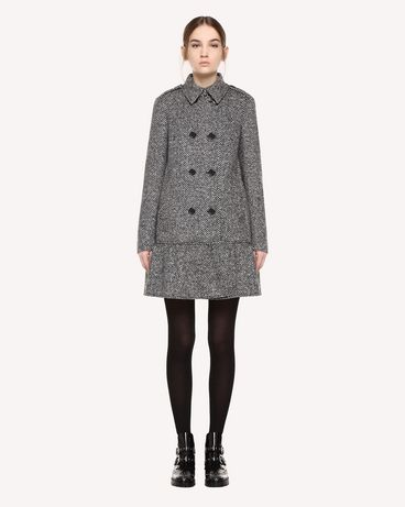 REDValentino Chevron Wool Coat