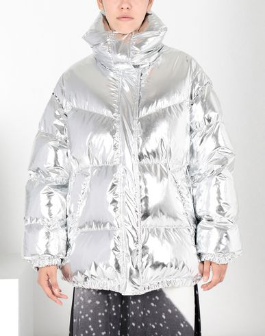 MM6 MAISON MARGIELA Jacket Woman Silver puffer sports jacket f