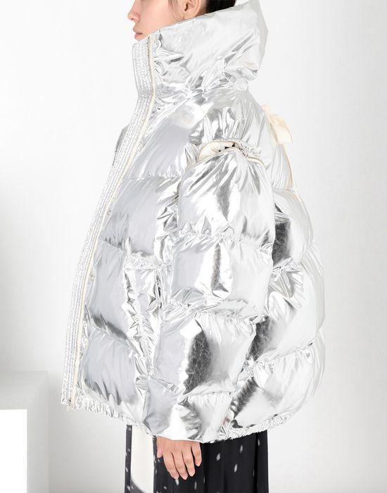 MM6 MAISON MARGIELA Silver puffer sports jacket Jacket [*** pickupInStoreShipping_info ***] e