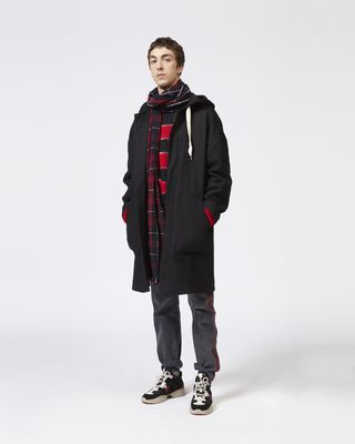 ISABEL MARANT COAT Man EDOUARD hooded coat r