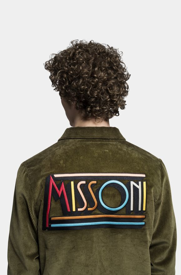 MISSONI Anorak Military green Man