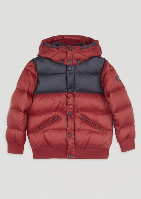 Quilted padded jacket with removable hood