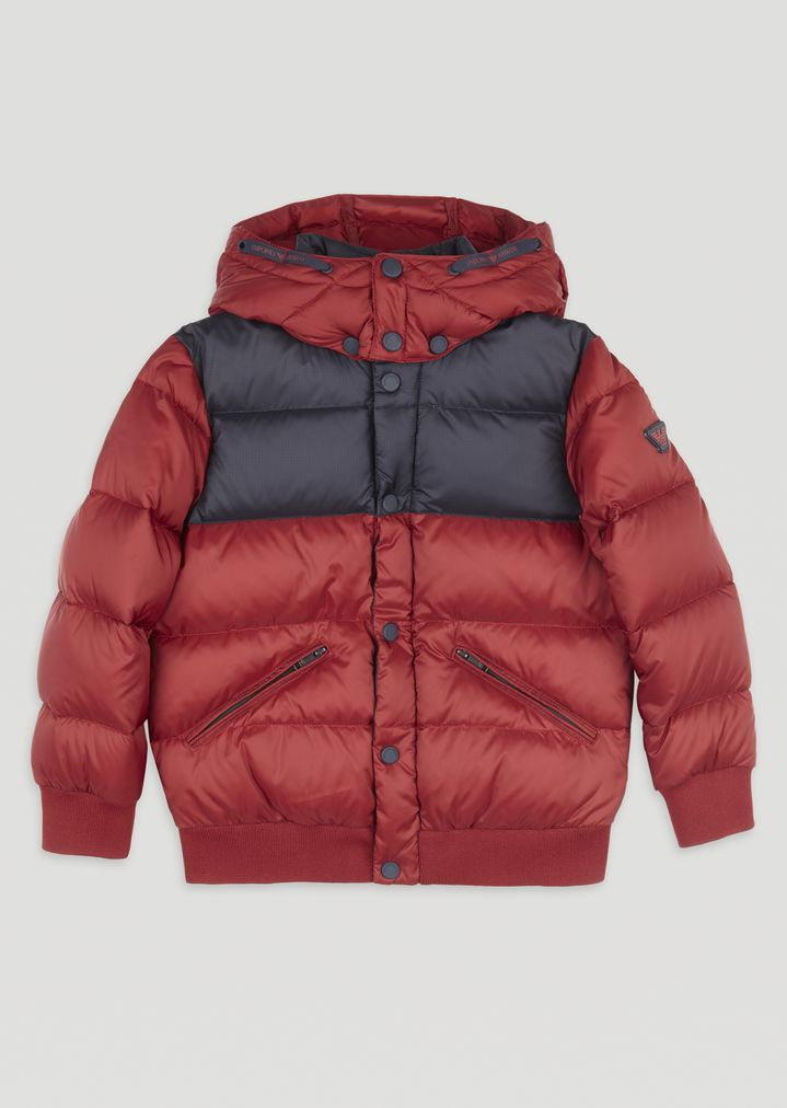 5fb39d530dc12 Quilted padded jacket with removable hood   Man   Emporio Armani