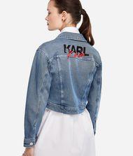 KARL LAGERFELD Karl x Kaia Jeansjacke mit Logo-Details 9_f