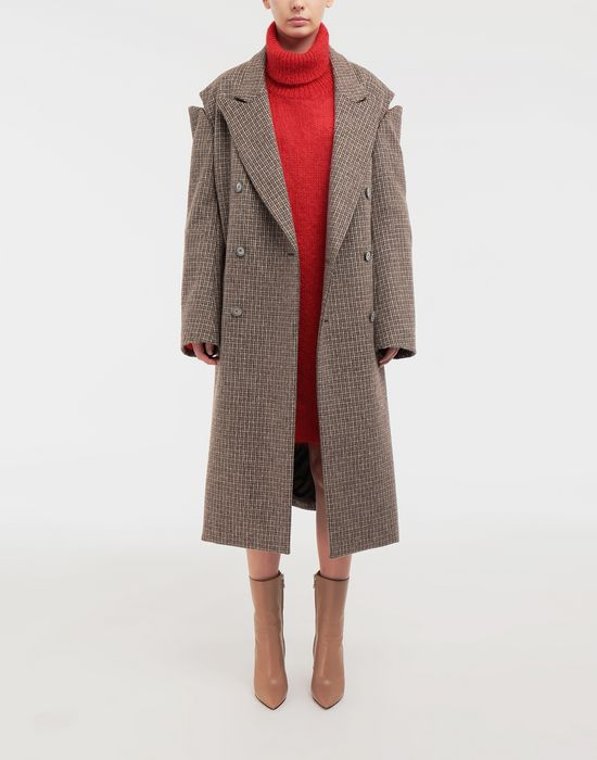 MAISON MARGIELA Coat with décortiqué details Coat [*** pickupInStoreShipping_info ***] d