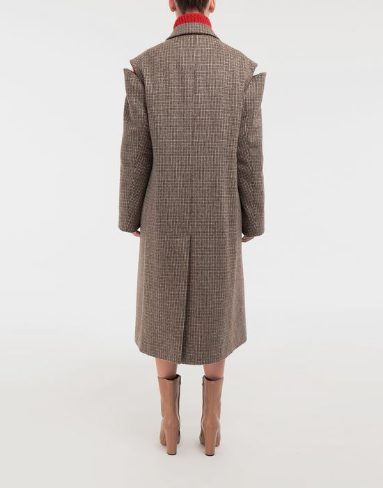 MAISON MARGIELA Coat with décortiqué details Coat [*** pickupInStoreShipping_info ***] e