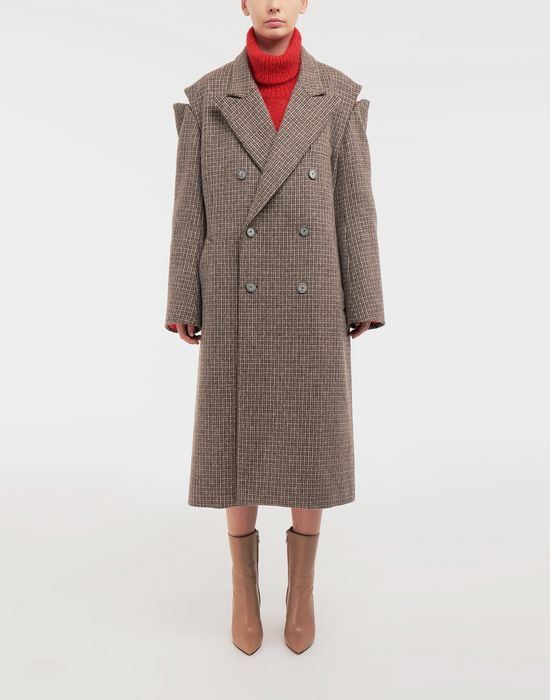 MAISON MARGIELA Coat with décortiqué details Coat [*** pickupInStoreShipping_info ***] r