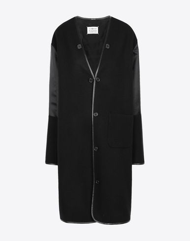 MAISON MARGIELA Coat [*** pickupInStoreShipping_info ***] Wool coat with sleek details f