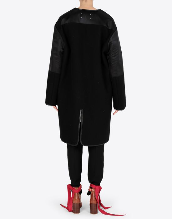 MAISON MARGIELA Wool coat with sleek details Coat [*** pickupInStoreShipping_info ***] e