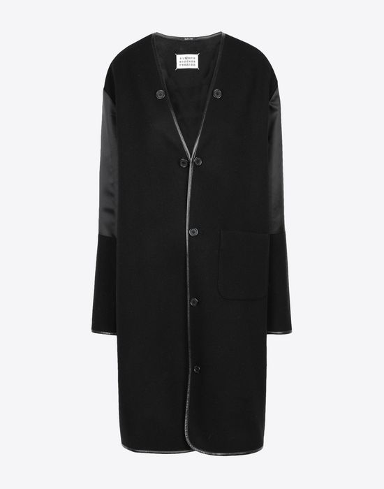 MAISON MARGIELA Wool coat with sleek details Coat [*** pickupInStoreShipping_info ***] f