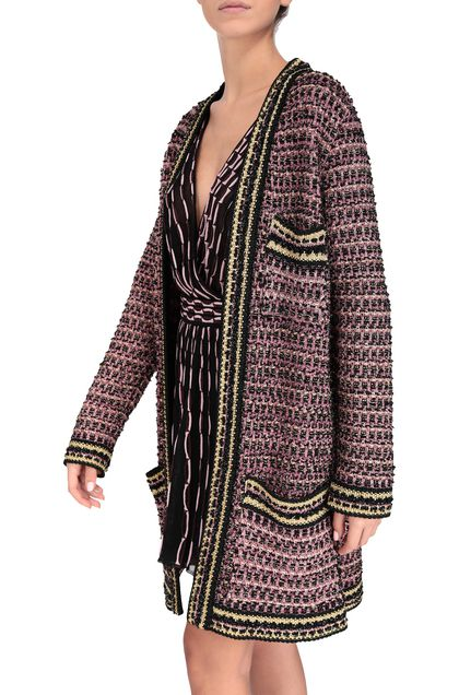 M MISSONI Trench coat Pink Woman - Front