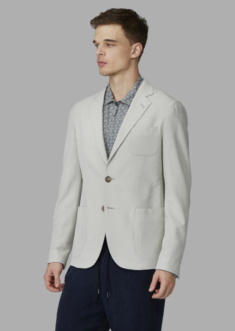 Upton Line deconstructed regular fit jacket in virgin wool