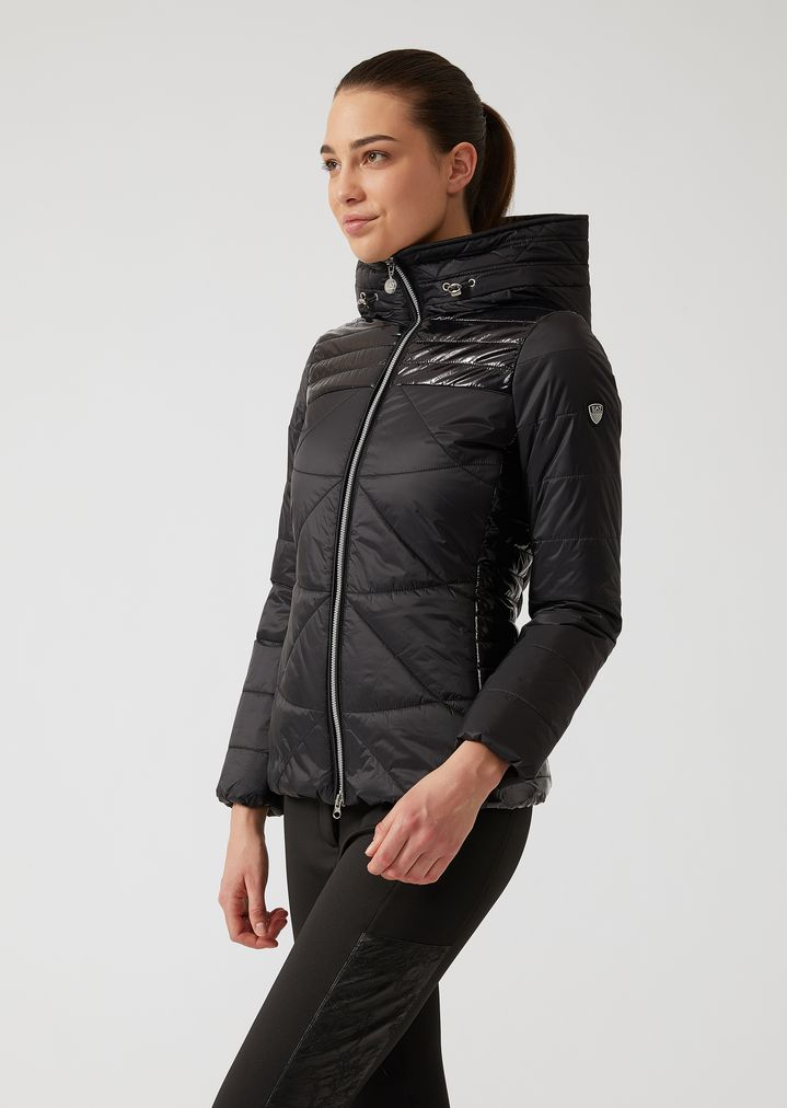 low priced e704a 5040c Windproof padded technical fabric jacket with premium zip ...