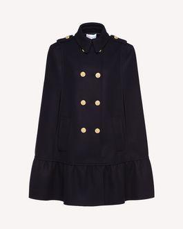 REDValentino Naval Wool Cape