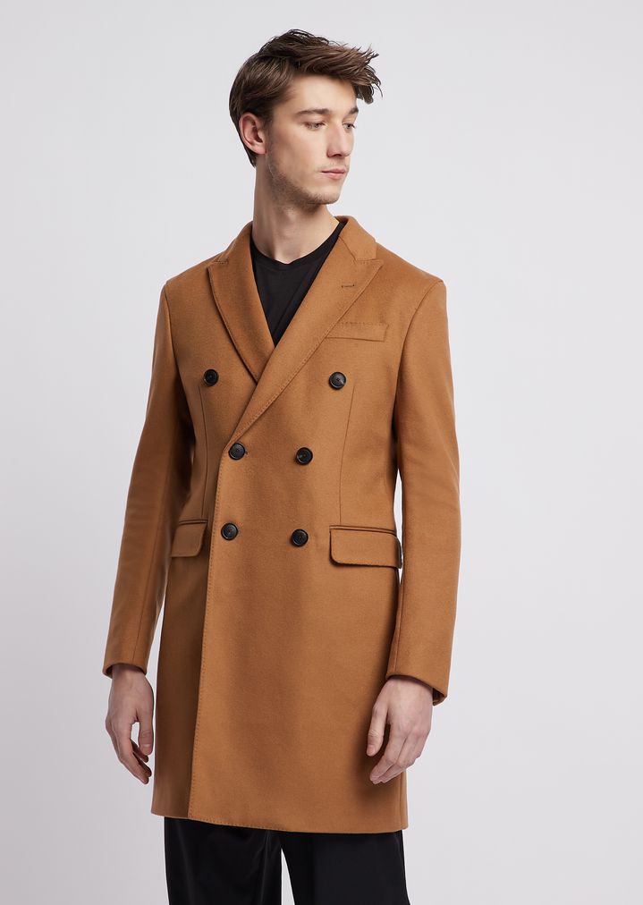 wholesale dealer bfac0 1d8f9 Cappotto con revers in lana vergine e cashmere   Uomo ...