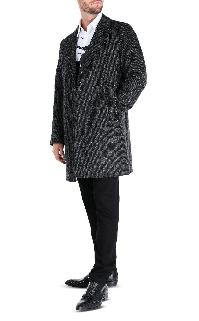 JUST CAVALLI Elegant long-sleeve coat Coat Man r