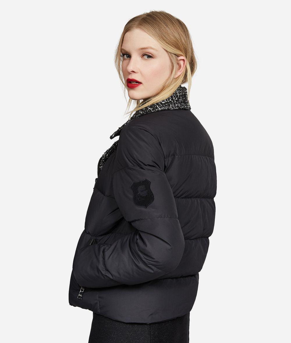KARL LAGERFELD Bouclé and Nylon Down Jacket Jacket Woman d