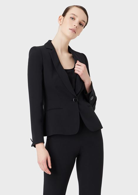 Mulberry silk single-breasted jacket