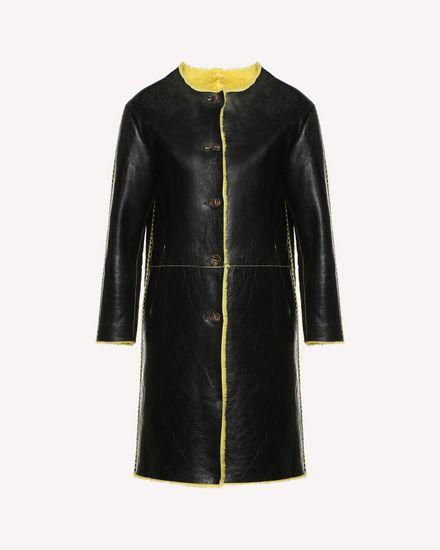 Sheepskin coat with Ornamental Frame embroidery