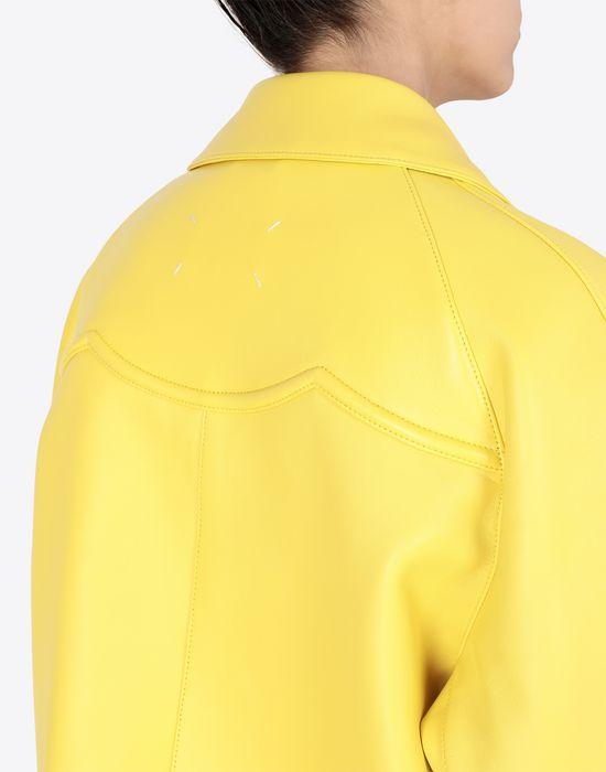 MAISON MARGIELA Nappa bonded leather sports jacket Jacket [*** pickupInStoreShipping_info ***] b