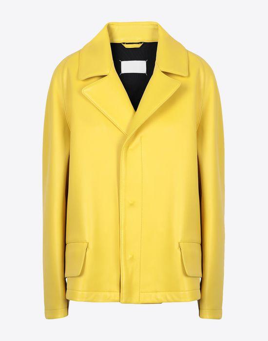 MAISON MARGIELA Nappa bonded leather sports jacket Jacket [*** pickupInStoreShipping_info ***] f