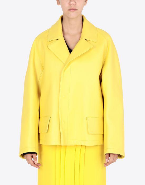 MAISON MARGIELA Nappa bonded leather sports jacket Jacket [*** pickupInStoreShipping_info ***] r
