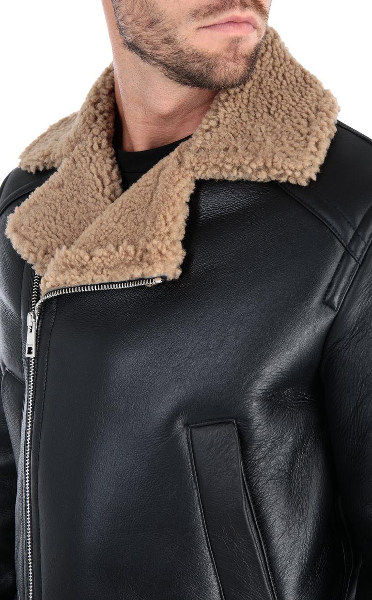 JUST CAVALLI Camouflage jacket Leather Jacket Man e