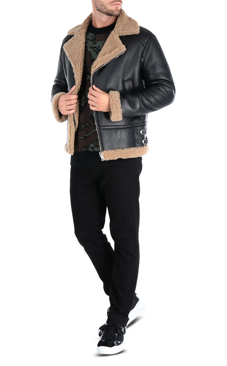JUST CAVALLI Camouflage jacket Leather Jacket Man r
