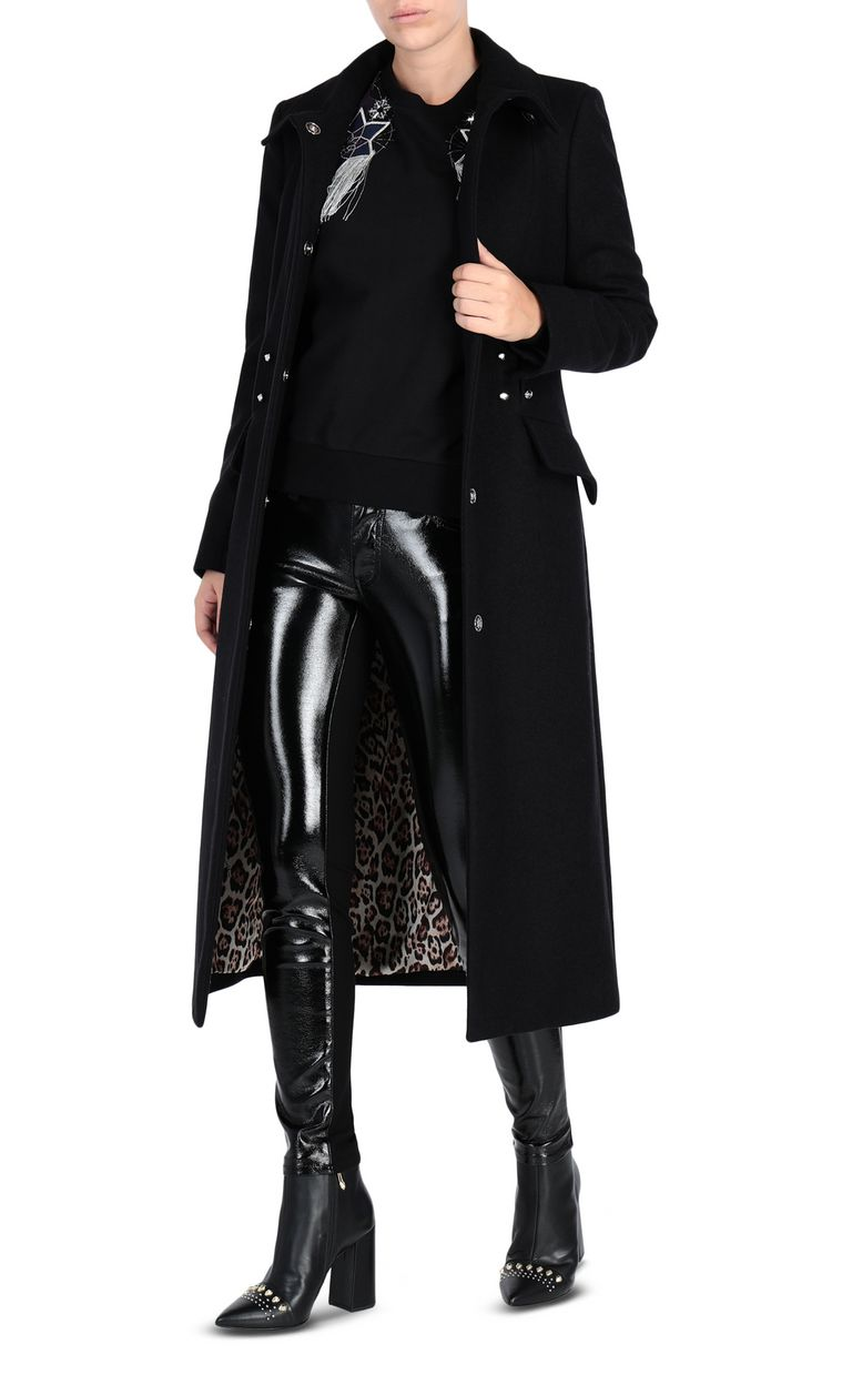 JUST CAVALLI Long coat with piercing Coat [*** pickupInStoreShipping_info ***] r