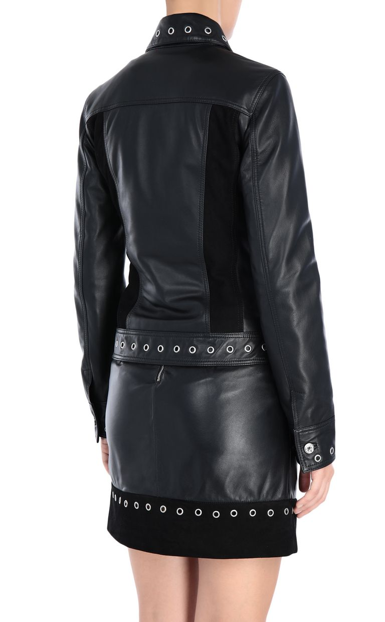 JUST CAVALLI Leather jacket with fringe detail Leather Jacket [*** pickupInStoreShipping_info ***] d