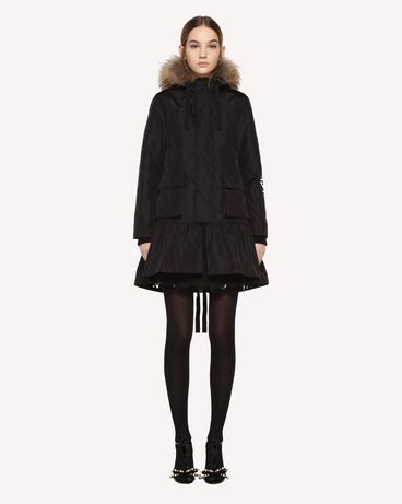 REDValentino Nylon Peacoat With Encrypted Love Letters Print ...