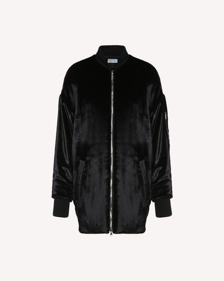 Bomber jacket in Fluid Velvet