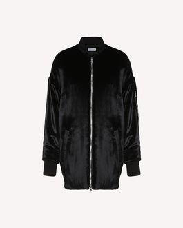 REDValentino Bomber jacket in Fluid Velvet
