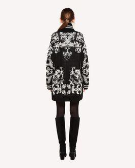 REDValentino 版印图案嵌花阔型羊毛开衫