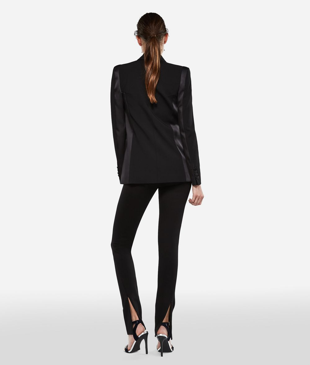 KARL LAGERFELD Wool and Satin Tuxedo Blazer Blazer Woman d