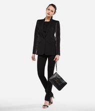 KARL LAGERFELD Wool and Satin Tuxedo Blazer 9_f