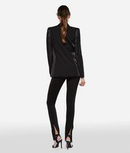 KARL LAGERFELD Wool and Satin Tuxedo Blazer 9_f