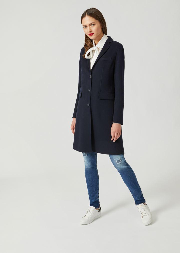 designer fashion 2113e af537 Cappotto monopetto in cashmere doppio