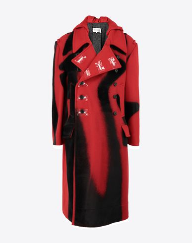 MAISON MARGIELA Coat Man Printed wool coat f