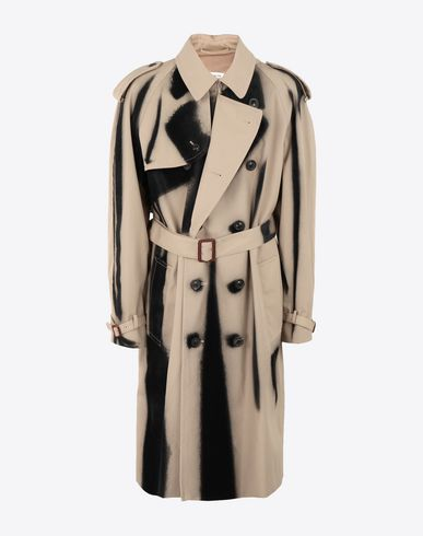 MAISON MARGIELA Raincoat Man Paintbrush trench coat f