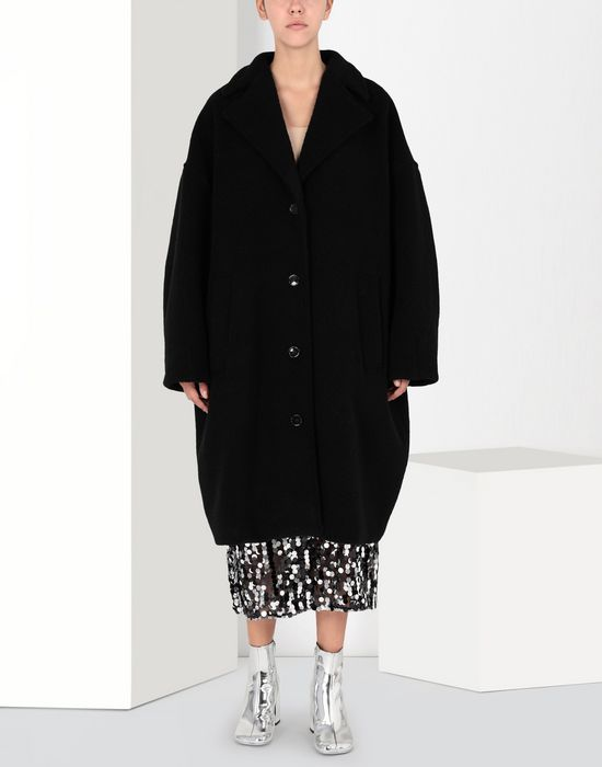MM6 MAISON MARGIELA Cocoon jersey coat  Coat [*** pickupInStoreShipping_info ***] f