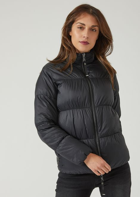Lightweight reversible nylon padded jacket