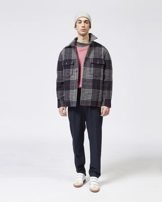 ISABEL MARANT COAT Man GERVEY checked jacket r