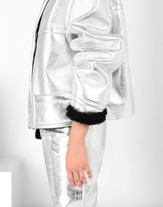 MM6 MAISON MARGIELA Silver leather shearling jacket Jacket [*** pickupInStoreShipping_info ***] a